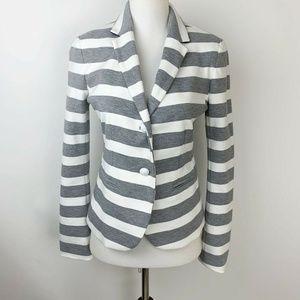 GAP Academy Gray Stripe school boy stretch blazer